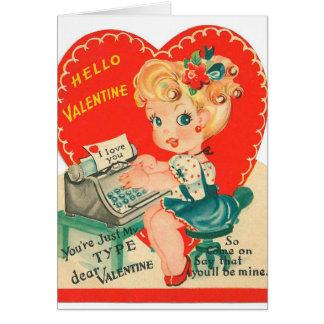 Retro Vintage Frau addieren Mitteilungskarte