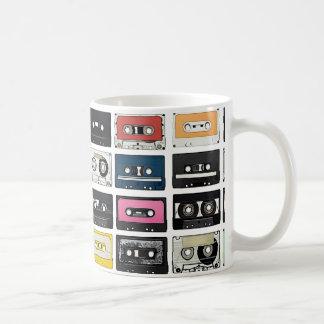 Retro Vintage Kassetten-Mischung nimmt Kunstmuster Kaffeetasse