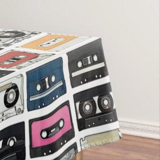 Retro Vintage Kassetten-Mischung nimmt Kunstmuster Tischdecke