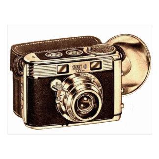 Retro Vintage Kitsch-50er 35mm Kamera Postkarte