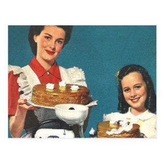 Retro Vintage Kitsch-50er Postkarte