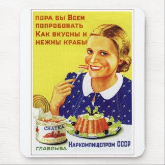 Retro Vintage Kitsch-50er UDSSR-Sowjet Chatka Mousepad