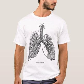 Retro Vintage Kitsch-Anatomie-medizinische Lungen T-Shirt