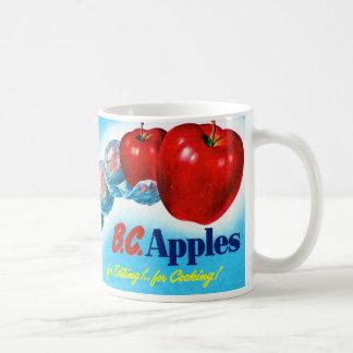 Retro Vintage Kitsch-Apple-Kunst-B.C. Äpfel Kaffeetasse