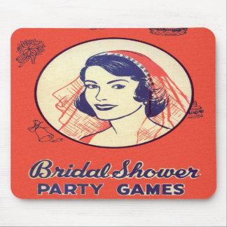 Retro Vintage Kitsch-Brautparty-Party-Spiele Mousepads
