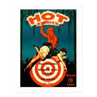 Retro Vintage Kitsch-Massen-heiße Postkarte