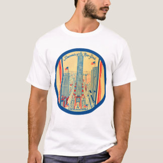 Retro Vintage Kitsch-Reise-Andenken von New York T-Shirt