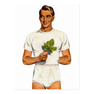 Retro Vintage Kitsch-Unterhosen Whitey Tighties Postkarte