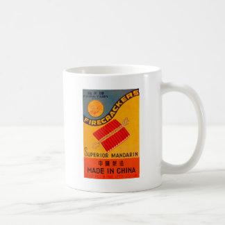Retro Vintage Kitschfirecracker-Fliegen-Fee Kaffeetasse