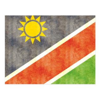 Retro Vintage Namibia-Flagge Postkarte