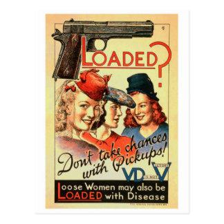 Retro Vintage Propaganda 'Loaded des Kitsch-VD Postkarte
