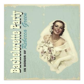 retro Vintage Quadratische 13,3 Cm Einladungskarte