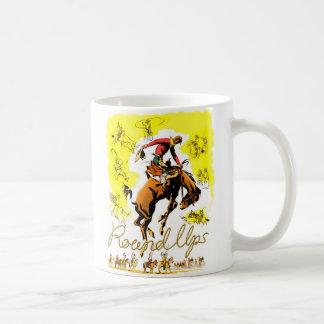 Retro Vintage Rodeo-Cowboy-Zusammenfassung Kaffeetasse