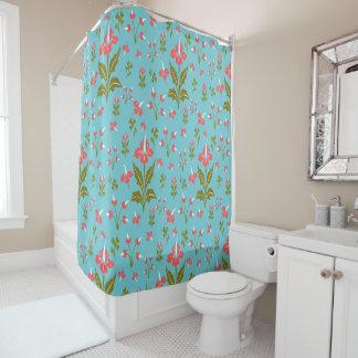 Retro Vintage rosa grüne weiße blaue mit Duschvorhang
