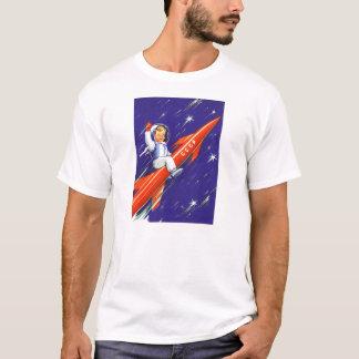Retro Vintage Sci FI 'glückliches kleines Cosmo T-Shirt