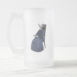 Retro Vintage Sphynx Katze gesetzt Mattglas Bierglas