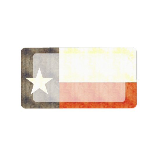 Retro Vintage Texas-Flagge Adress Aufkleber