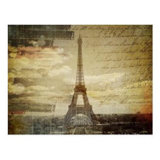 retro Vintage Turmmode Skriptparis Effiel Postkarten