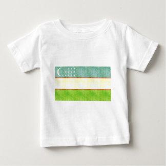 Retro Vintage Usbekistan-Flagge Baby T-shirt