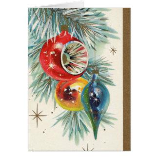 Retro Vintage Weihnachtsbirne addieren Textkarte Karte