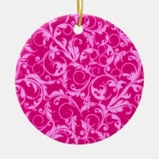 Retro Vintage Wirbels-heißes Rosa-runde Verzierung Rundes Keramik Ornament