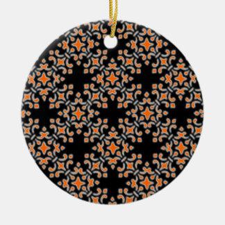 Retro Vintager Damast-runde Verzierung Rundes Keramik Ornament