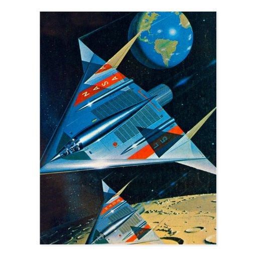 Retro Vintager die Sci FI-NASA-Raum-Flug L-15 Postkarten