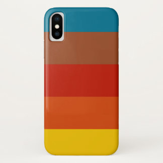 Retro Vintager Farbtelefon-Kasten iPhone X Hülle