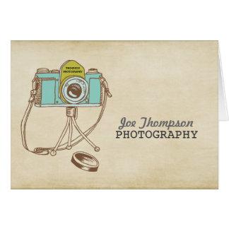 Retro Vintager Kamera-Fotograf danken Ihnen zu Karte