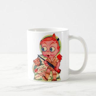 Retro Vintager Kitsch-60er Valentine, den ich Kaffeetasse