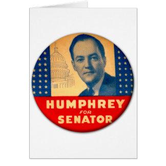 Retro Vintager Kitsch Humphrey für Senats-Knopf Grußkarte