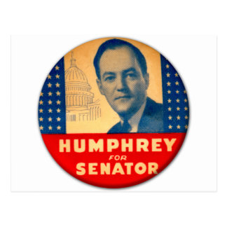 Retro Vintager Kitsch Humphrey für Senats-Knopf Postkarte