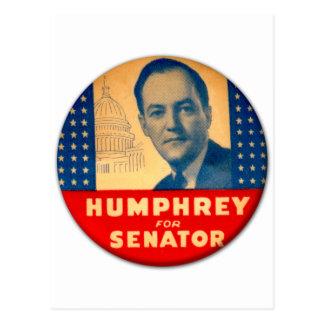 Retro Vintager Kitsch Humphrey für Senats-Knopf Postkarten