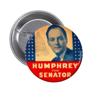 Retro Vintager Kitsch Humphrey für Senats-Knopf Runder Button 5,1 Cm