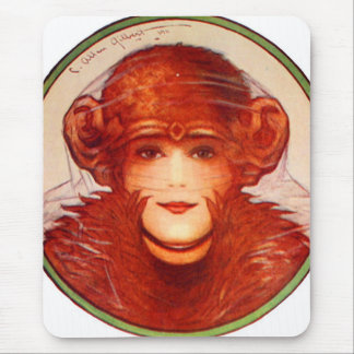 Retro Vintager Kitsch-Illusions-Schimpanse oder Mousepads