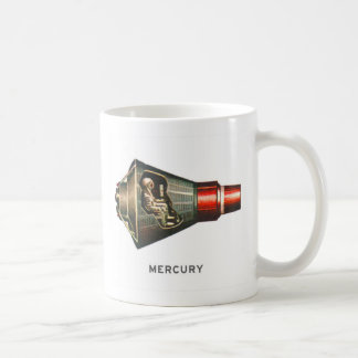 Retro Vintager Kitsch-Kapselmercury-Astronaut Kaffeetasse