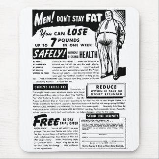"""Retro Vintager Kitsch-""""Männer! Bleiben Sie nicht Mousepad"""