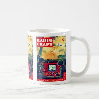 Retro Vintager Kitsch-Militärradiohandwerk Kaffeetasse