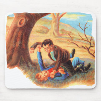 Retro Vintager Kitsch-Tyrann scherzt FaustFighting Mousepad