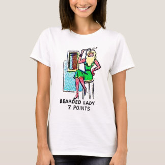 Retro Vintager KitschSideshow 'bärtiges Lady T-Shirt