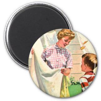Retro Vintager Laundy das Buch der Kitsch-Kinder Runder Magnet 5,1 Cm