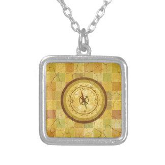 Retro Vintager mehrfarbiger Kompass-Entwurf Personalisierte Halskette