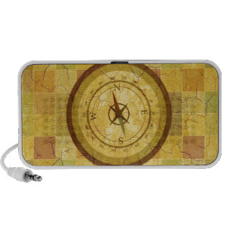 Retro Vintager mehrfarbiger Kompass-Entwurf Speaker System