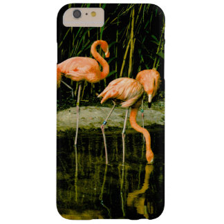 Retro Vintager rosa Flamingo-Telefon-Kasten Barely There iPhone 6 Plus Hülle