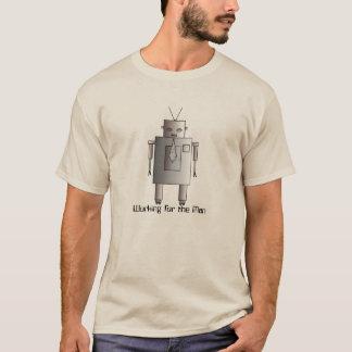 Retro Vintager Unternehmensroboter, der für Mann T-Shirt