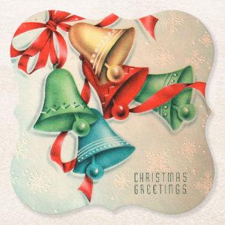 Retro Vintager Weihnachtsglocken-Party-Untersetzer Untersetzer