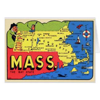 Retro Vintages Abziehbild Kitsch-Mass. Karte