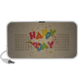 Retro Vintages alles- Gute zum Geburtstagmuster Mini Speaker