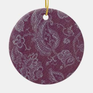 Retro Vintages Blumenpflaumen-Rouge-runde Rundes Keramik Ornament