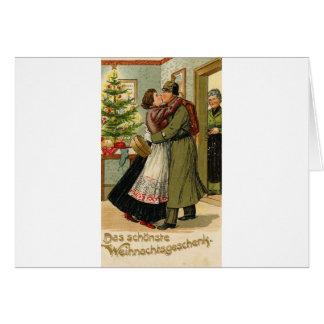 Retro Vintages deutsches Soldat-Weihnachten Karte